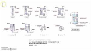 Stairs In Floor Plan by All Types Of Reinforced Concrete Stairs Reinforcement Plan Views