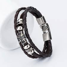 fashion charm leather bracelet images 2017 new fashion charm leather charm bracelets for men popular jpg
