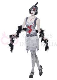 Halloween 20s Costumes 20s 1020s Horror Ladies Zombie Bloody Flapper Party Fancy Dress