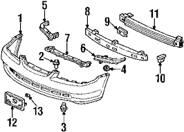 2000 honda accord lx parts parts com honda base fr partnumber 71145s82a00