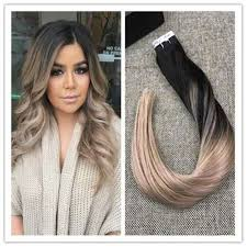 balayage hair extensions remy human hair in extensions ombre balayage hair color 1b 18