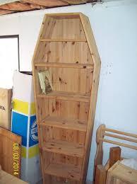 coffin bookshelf coffin shaped bookcase moveable shelves in sheringham norfolk