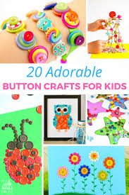 20 adorable button crafts for kids mum in the madhouse