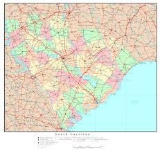 Map Of United States With Cities by Large Detailed Administrative Map Of South Carolina State With