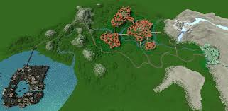 Lord Of The Rings Map The Lord Of The Rings Middle Earth Minecraft Project