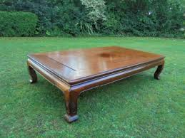 large vintage coffee table large antique oriental hardwood opium table coffee table 358604