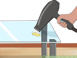 how to clean concrete table top 3 ways to remove wax from a glass table top wikihow