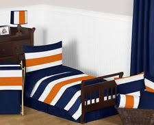 blue and orange bedding boys striped bedding ebay