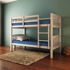 Timber Bunk Bed Luxo Dante 2 In 1 Solid Pine Timber Bunk Bed White Beds