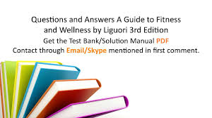 practice test bank for questions and answers a guide to fitness
