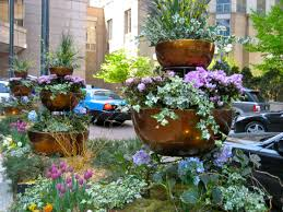 container gardening 3 tier container garden eden makers blog by shirley bovshow