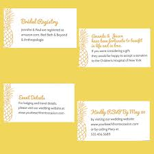 vacation wedding registry wedding enclosure cards etiquette wording sizing