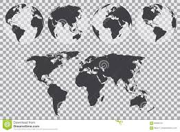 Free Vector World Map by Globe Set With World Map On A Transparent Background Vector