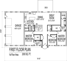 stunning house plan for 2000 sq ft 2000 sq ft and up