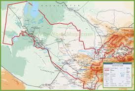 Map Of Asia With Cities by Uzbekistan Maps Maps Of Uzbekistan