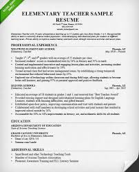 Examples Of Elementary Teacher Resumes by Skillful Teacher Resume Example 4 Teacher Resume Samples Writing