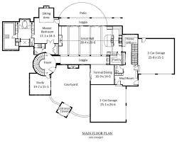 3500 square foot house plans mediterranean home plan 6 bedrms 5 5 baths 7521 sq ft 161 1035