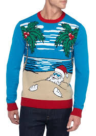 santa beach sweater with led lights light up christmas sweaters
