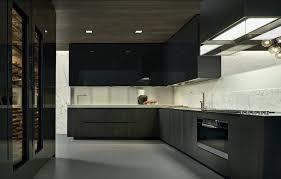 cuisine grise plan de travail noir cuisine noir laqu plan de travail bois ides de cuisines