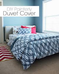 How To Make A Duvet Cover From Sheets by Diy Painterly Duvet Cover