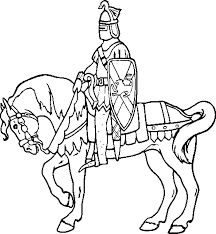 knight on horseback running the dark knight rises colouring pages