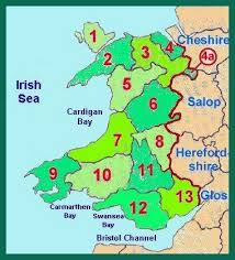 where is wales on the map family history archive