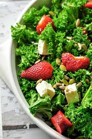 strawberry kale salad with poppy seed dressing flavour and savour