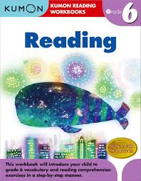 amazon com grade 6 reading kumon reading workbook