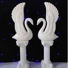 swan wedding shop sell 2sets white pillars with swan wedding