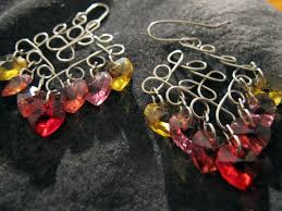Wire Chandelier Earrings 1 Naomi U0027s Designs Handmade Wire Jewelry More Handmade Wire Wrapped