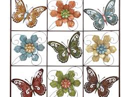 decor 99 colored metal butterfly wall decor set of three