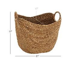 amazon com deco 79 large seagrass basket home u0026 kitchen