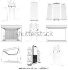 Pop Up Reception Desk Trade Show Booth Set Rollup Popup Stock Illustration 412410796