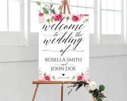 wedding reception programs reception programs etsy