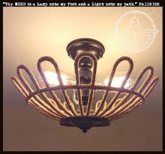 3 Bulb Flush Mount Ceiling Light Fixture Jute Original 3 Light Flush Mount Ceiling Light The L Goods