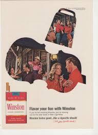 1967 advertisement winston cigarettes fiddle cowbell 60s ho