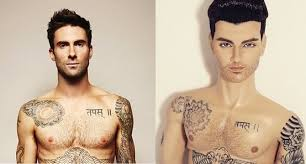 adam levine doll is so accurate its tribal tattoos will haunt you