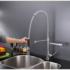 style kitchen faucets ruvati rvf1290ch 28 inch pre rinse spray commercial style kitchen