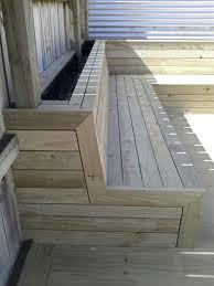 Wooden Bench Seat Designs by Top 25 Best Deck Bench Seating Ideas On Pinterest Deck Benches