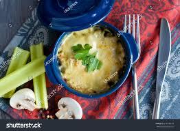 julien cuisine julien fele duck mushrooms sauce stock photo 278708678