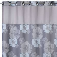 bathroom design wonderful extra long shower curtain liner for awesome hookless gray floral pattern extra long shower curtain liner with straight iron rod for bathroom