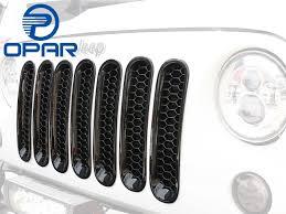 amazon com jeep wrangler jk amazon com opar gloss black honeycomb front mesh grille inserts