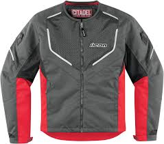 red motorcycle jacket icon citadel mesh textile men u0027s motorcycle jacket red