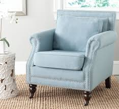 Navy Blue Leather Club Chair Blog Giveaway Light Blue Club Chair With Nail Head Trim Enter To