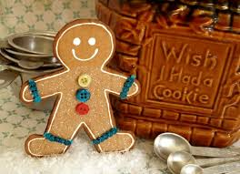 diy gingerbread decoration paper and stitch