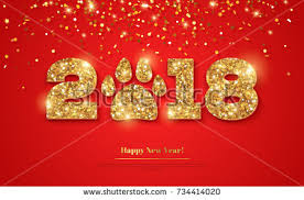new year wish card 2018 happy new year greeting card stock vector 734414020