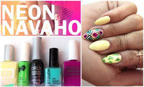 aztec print nail art spring u0026 summer music festival inspiration