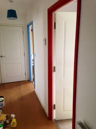 Paint Interior Doors by Painted Door Frames U0026 Jons Room Love The Two Different Colored