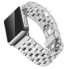 metal bracelet watches images Stainless steel watchbands for apple watch band strap link silver jpg