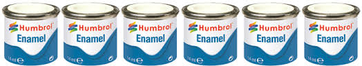 humbrol 6x enamel 14ml paint pots choice of colour jadlam toys